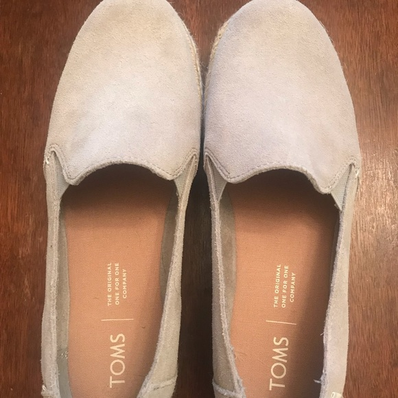 Toms Shoes - Toms grey espadrille size 6 worn 1 time